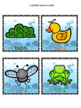 Pond Life-Roll a Syllable Dice Game