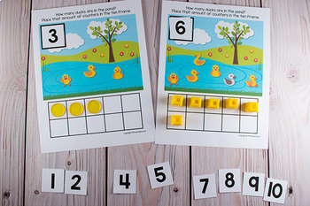 Pond Life Ten Frame Game  (Pre-K + K Math)