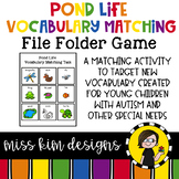 Pond Life Vocabulary Folder Game for Students with Autism & Special Needs