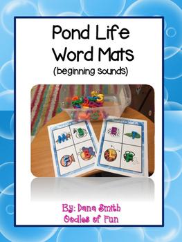 Pond Life Word Mats (beginning sounds)