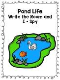 Pond Life Write the Room and I-Spy