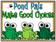 Pond Pals Behavior Clip Chart