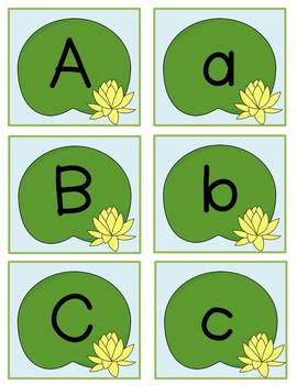 Pond Pals Leap N' Write the Room: Letter Sorting & Letter Recognition Activities