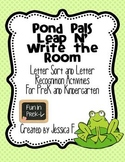 Pond Pals Leap N' Write the Room: Letter Sorting & Letter