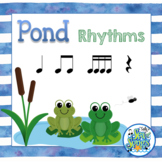 Pond Rhythms - Read and Write Quarter, Eighth Notes with F