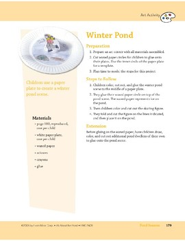 Pond Seasons: Art and Cooking Activities