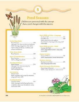 Pond Seasons: Outdoor Activity and Dramatic Play