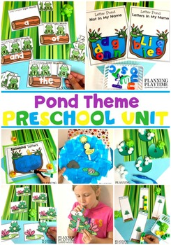 Pond Theme Preschool Centers and Printables