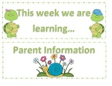 Pond Themed Classroom Labels