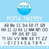 Font - Pond Twiggy