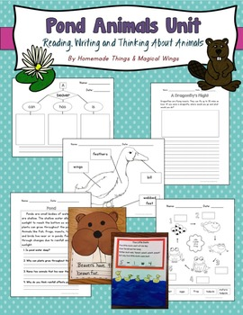 Pond Animals Unit: Reading, Writing and Thinking About Animals