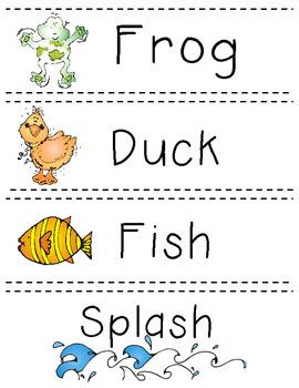 Pond Vocabulary Word Cards