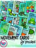 Pond Wetlands Animals Movement Cards for Preschool and Brain Break