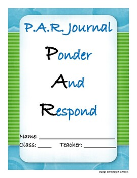 Upper Grades 40-prompt journal with end-of-year reflection project