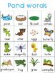 Pond Writing Center Tools: Habitat Words