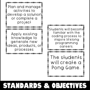 Scratch Lesson Plan - Pong Game Coding