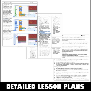 Scratch Programming 3 Lesson Plan - Pong Game Coding
