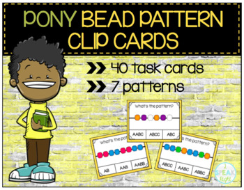 Pony Bead Pattern Clip Cards