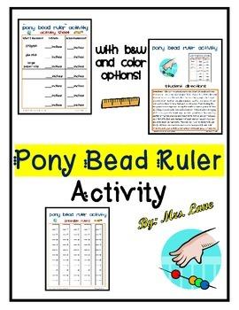 Pony Bead Ruler Activity