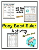 Pony Bead Ruler Activity