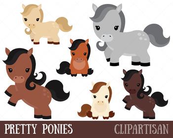 Pony Clip Art, Pretty Ponies Printable