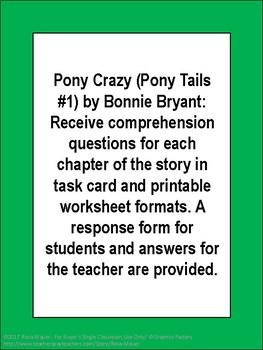 Pony Crazy Pony Tails #1 Book Unit
