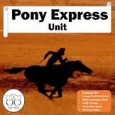 Pony Express Unit includes Non-fiction Text  Activities and Board Game