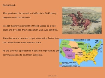Pony Express - Power Point - History Facts Pictures - 14 Slides