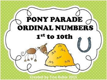 Pony Parade Ordinal Numbers - US VERSION