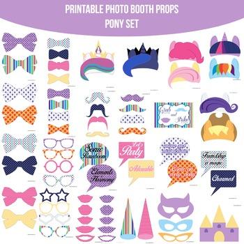 Pony Printable Photo Booth Prop Set