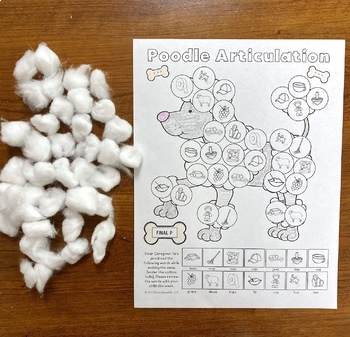 Poodle Articulation and Language: A Speech Therapy Craft Activity