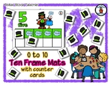 Poof! Magic - Magic Show - Ten Frame Mats 0 to 10 & Counter Cards