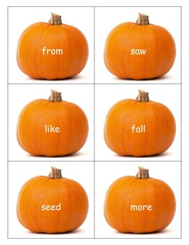 Pooh's Pumpkin: Comprehension Book Packet and sight word activities