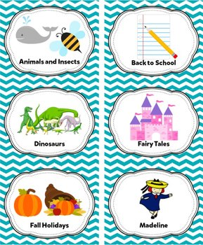 Pool Blue Classroom Library Labels & Individual Book Labels {Editable}