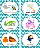 Pool Blue Classroom Library Labels & Individual Book Label