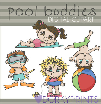 Pool Buddies Digital Clip Art