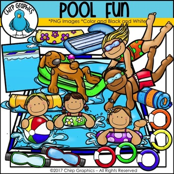 Pool Fun Clip Art - Chirp Graphics