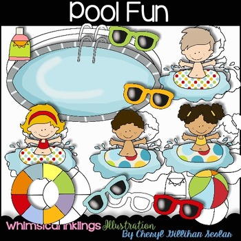 Pool Fun Clipart Collection