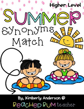 Pool Kids and Pospicles / Summertime: Synonyms Match Center (Harder)
