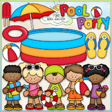 Pool Party - CU Clip Art & B&W Set