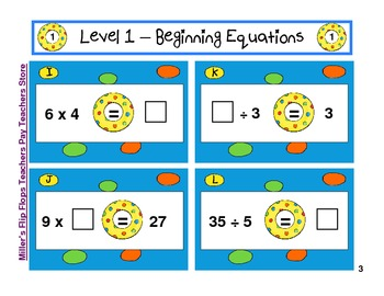 Pool Party Beach Equations - G3 Math - 3 Levels Common Core