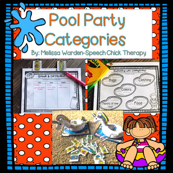 Pool Party Categories: Summer Fun for Speech Therapy
