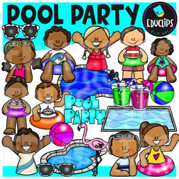 Pool Party Clip Art {Educlips Clipart}