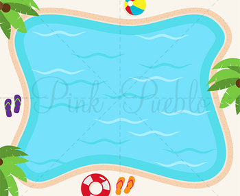 Pool Party Clipart, Pool Party Clip Art for Pool Party Invitations