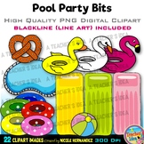 Pool Party Clipart | Summer Clip Art for Personal and Comm