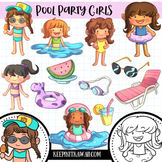 Pool Party Girls Clip Art Collection