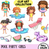 Pool Party Girls Clip Art Collection (FULL COLOR ONLY)