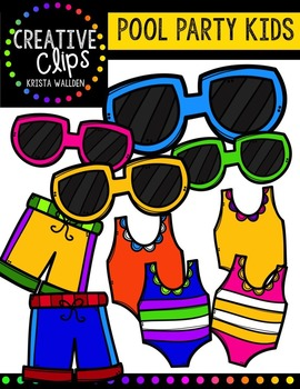 Pool Party KIDS {Creative Clips Digital Clipart}