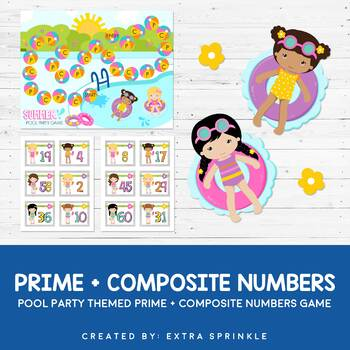 Pool Party Prime + Composite Numbers Board Game
