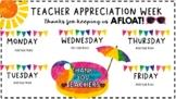 Pool Party Themed Teacher Appreciation Week Editable Printable